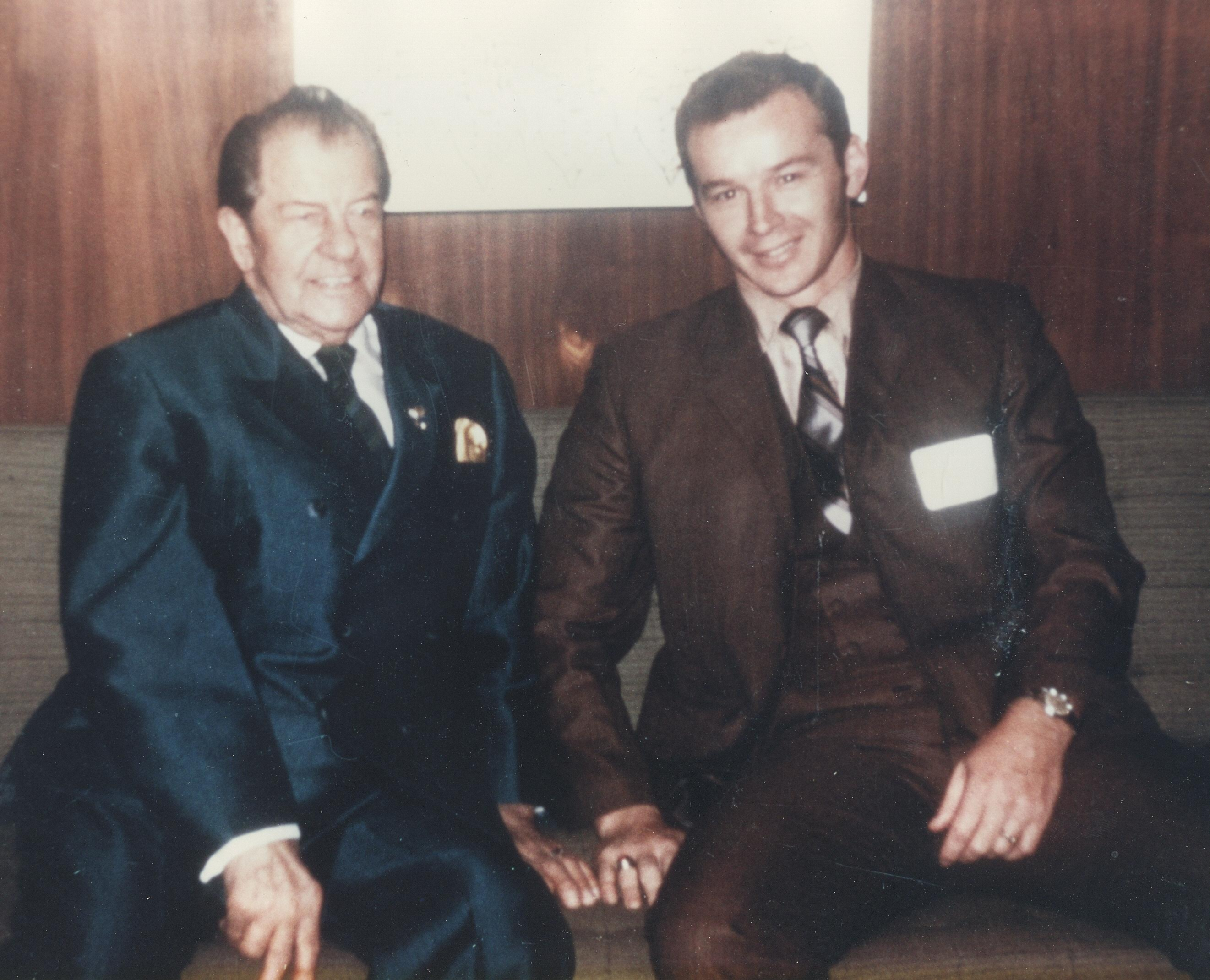 dr larry troxell with dr clarence gonstead