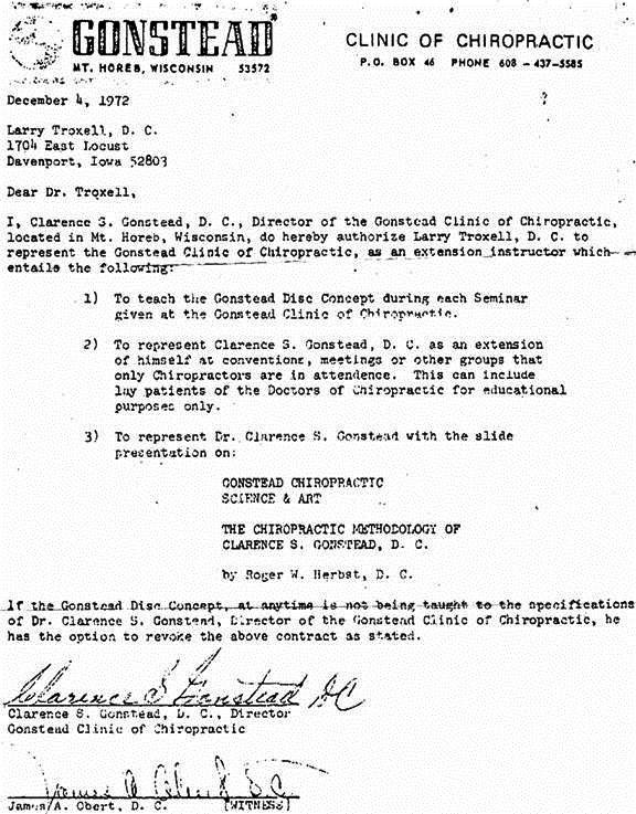 troxell gonstead letter